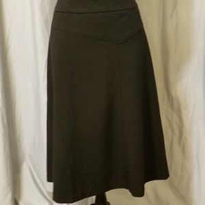 Mid Calf business apparel black skirt